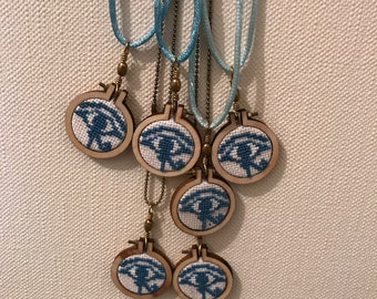 Cross stitch necklace / Cross Stitch - eye of Horus.