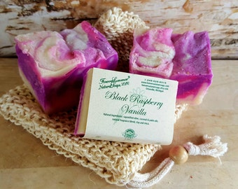 Black Raspberry Vanilla Olive Oil Soap
