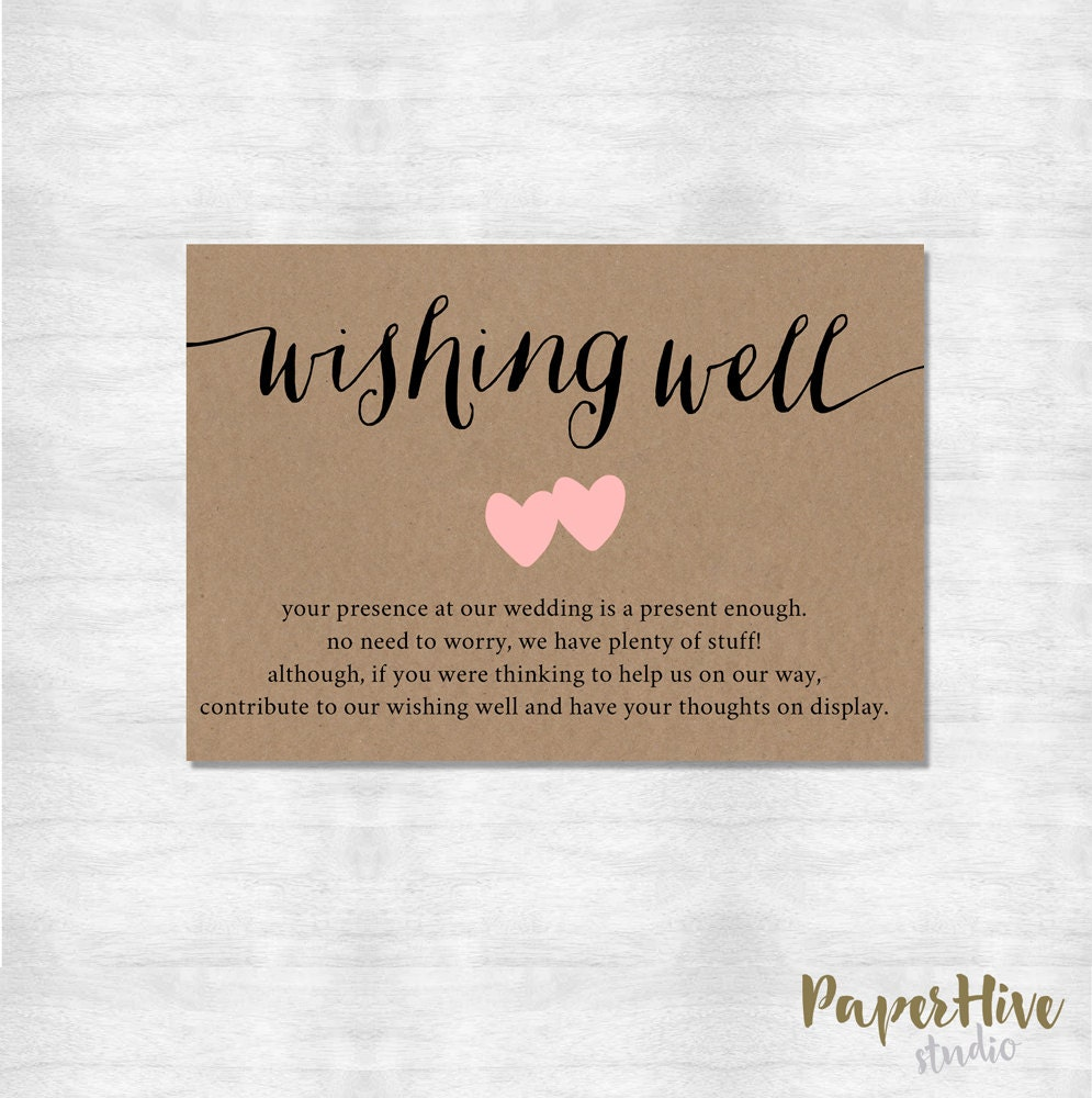 Wishing Well Card / Rustic Wishing Well Card / Printable