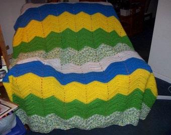 Crochet ripple afghan