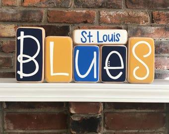 St. Louis Blues Decorative Blocks