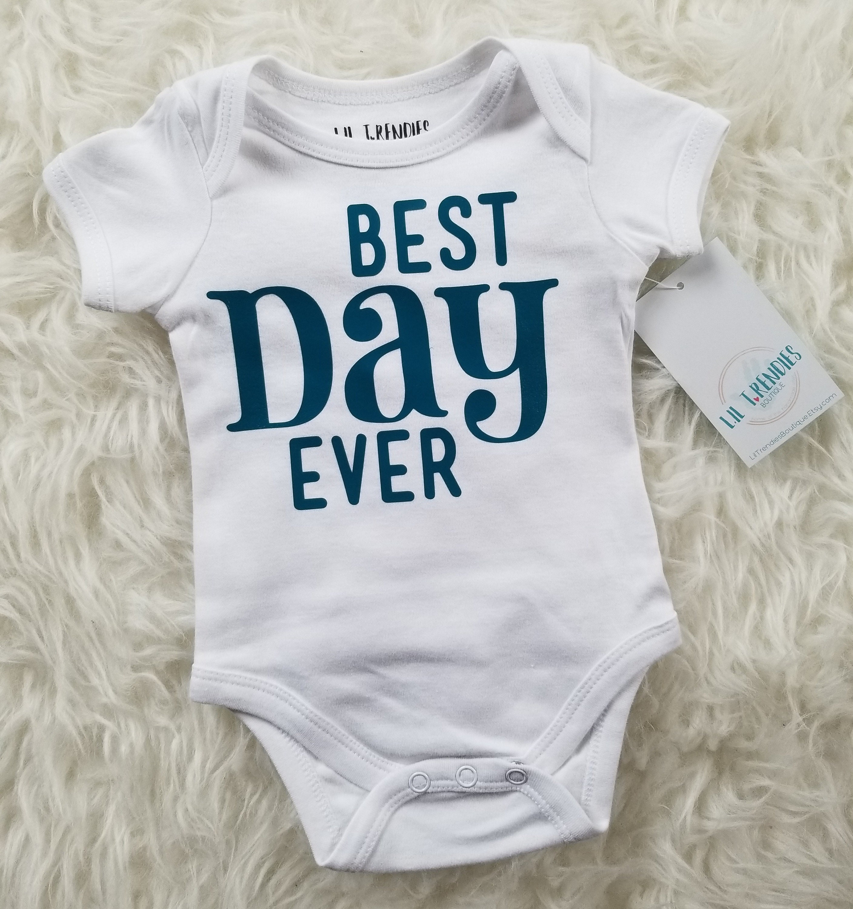 Newborn ing home outfit Best day ever bodysuit Baby boy