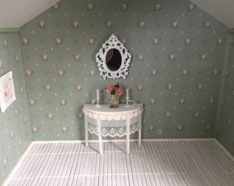 Shabby Chic Table & Mirror set -Free Shipping to the US