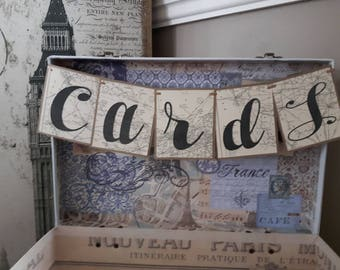 travel theme wedding, Travel theme Bridal shower, Retirement Party, Going Away party,  wedding decor nautical theme, map cards banner