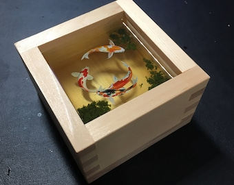 Not available [Reserved for SF Fan!] miniature 3D resin painting in Japanese sake bowl