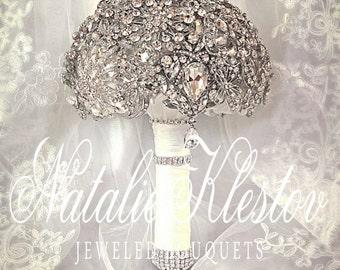 Wedding Alternative Brooch Bouquet. FULL PRICE Alternative  Crystal Bling Brooch Bouquet. Diamond Jeweled Bridal Broach Bouquet