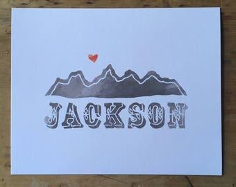 Jackson art print