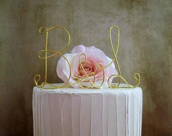 Initials Wedding Cake Topper, Wedding Cake Decoration, Monogram Wedding Cake Topper, Initials Cake Topper, Anniversary Initials Cake Topper