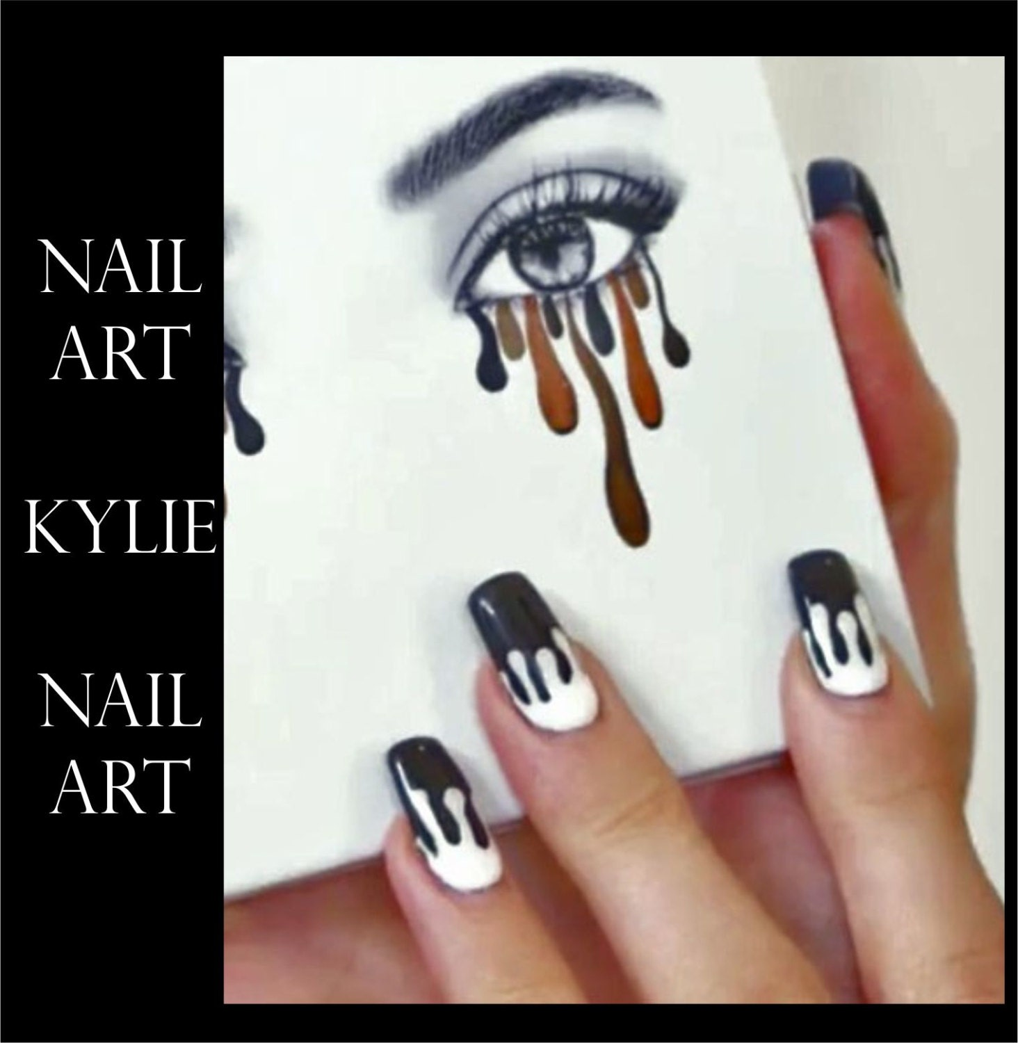 Kylie Jenner Lip Drip Nail Art Stocking Stuffer Stickers