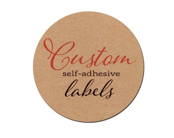 Custom labels - Round Labels - Custom printed self adhesive labels - Set of 60