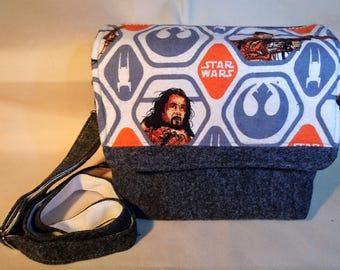 Star Wars inspired cross body/ clutch bag