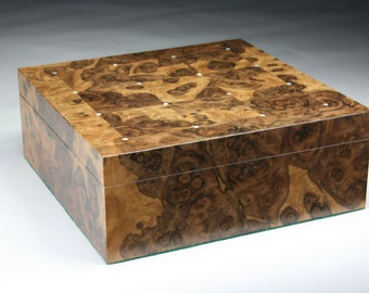 Burl wood box Etsy