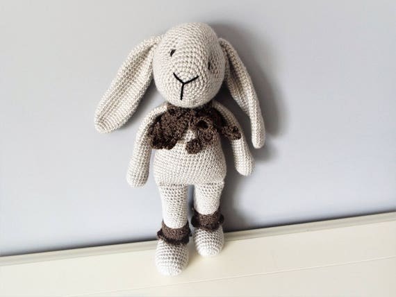 Crochet  bunny rabbit Amigurumi Big soft rabbit doll Home decor Baby shower Gift ideas Boys Girls Kids Interior decor Handmade stuffed bunny