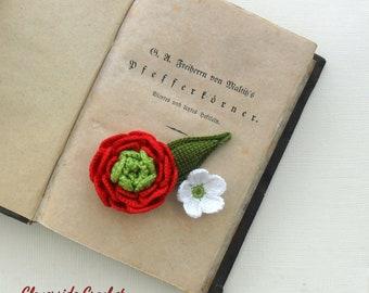 floral fiber brooch, textile brooch, crochet brooch, boho, romantic, handmade in Italy, gift for her