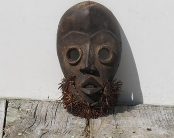 Authentic African Carved Mask Amazing Tribal Decor