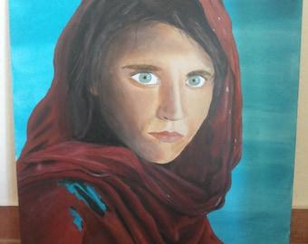 Acrylic painting, woman, Porträit