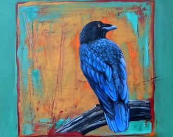 GARDEN GUARDIAN raven -  raven, crow, native american, indian, corvid, love