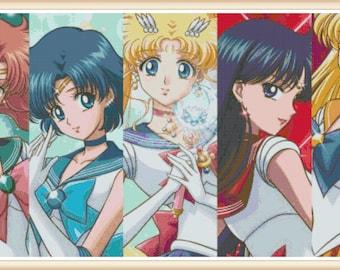 Sailor Moon Cross Stitch Pattern - Anime Cross Stitch - PDF Download
