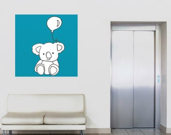 koala bear painting whimsical animal wall art koala bear nursery art original painting gift for him gift for her koala bear wall art canvas