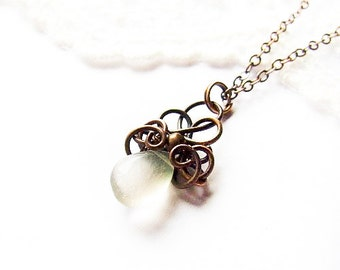 Simple Wire Wrapped Drop Necklace Tutorial, Jewelry Tutorial, Pendant Tutorial, Cute DIY Necklace, Tut 1