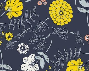 Meadow Vale Dark Tule by Leah Duncan for Art Gallery Fabrics, 1/2 yard, TL-40028