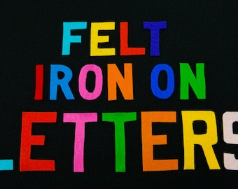 10 (ten) 3 inch Iron-on Felt Letters (Custom)