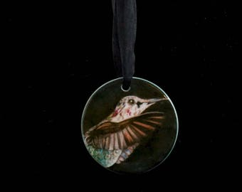 Ceramic Ornament - Hummingbird