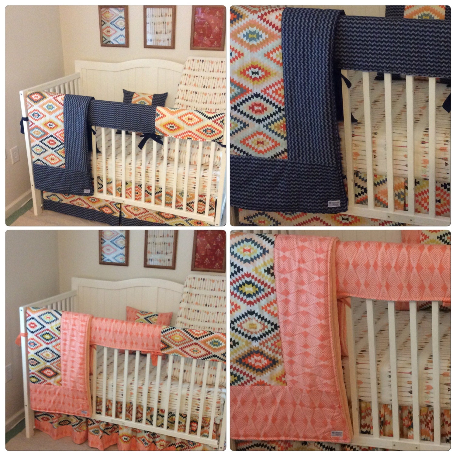 bedding pink peach a pretty crib product img sheet peony cribs baby great