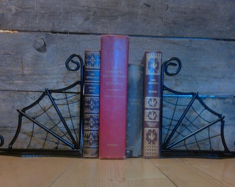Spider Web Bookends