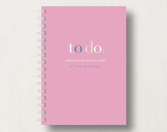 Personalised To Do List Journal or Notebook