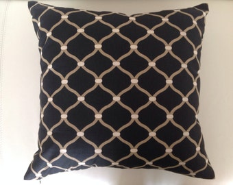 Black Cushions Modern Geometric Black Diamond Cushion Cover. Scatter Cushion, Decorative Pillows, Modern Urban Style