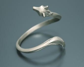 shaggy wolf  bracelet .  silver or  bronze
