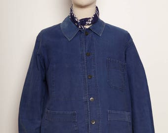 French Blue Faded Worker Jacket 1950