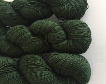 Hand Dyed 4ply BFL yarn in colourway Mormont 100g
