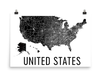 Map united states Etsy
