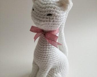 white CAT AMIGURUMI sweet elegant cat girl GIFT collection
