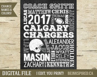 Football Coach Gift, Football Coach Thank You Gift, Football Team Gift, Coach Appreciation End of Season Gift, Personalized, DIGITAL FILE