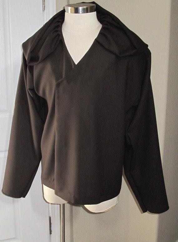 Cosplay Dark Brown under tunic costume shirt with a deep hood