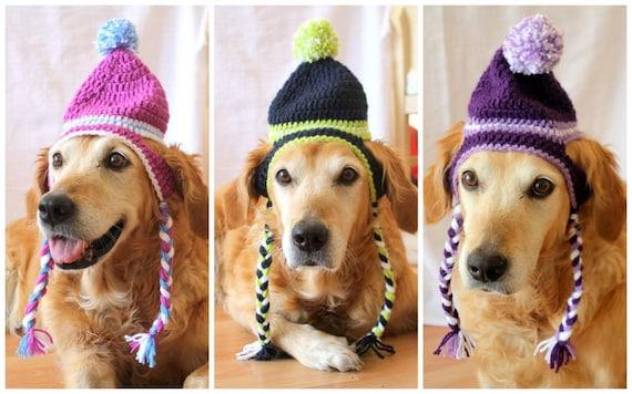 Dog Hat Ear Flap Dog Hat Dog Beanie Pom Pom Hat For Dogs