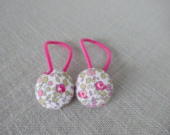 Elastic hair liberty, the pair, size 23mm button