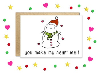 Funny Christmas Card, Christmas Gift, Funny Xmas Cards, Cute Christmas Card, Holiday Cards