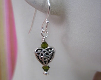 Celtic Heart Earrings