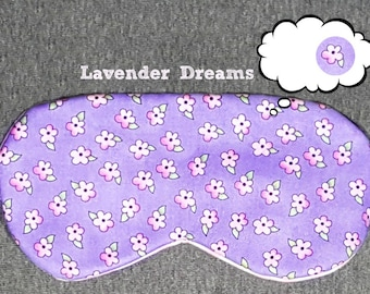 Purple Flower Sleep Masks, Lavender Eye Masks, for Naptime