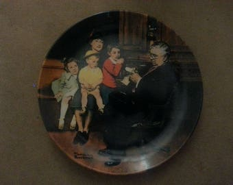 "Norman Rockwell Collector Plate ""The Family Doctor"""