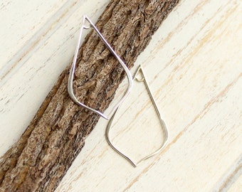 Sterling Silver Teardrop  -- Two Pieces of Connectors -- Earring Components