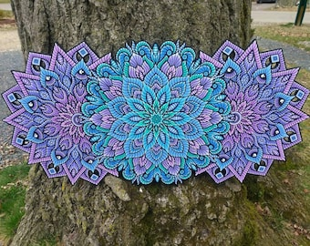 Candy Cotton - Mandala Art -  *Acrylic Painting* - Sacred Geometry - I Am Electric - WALL ART