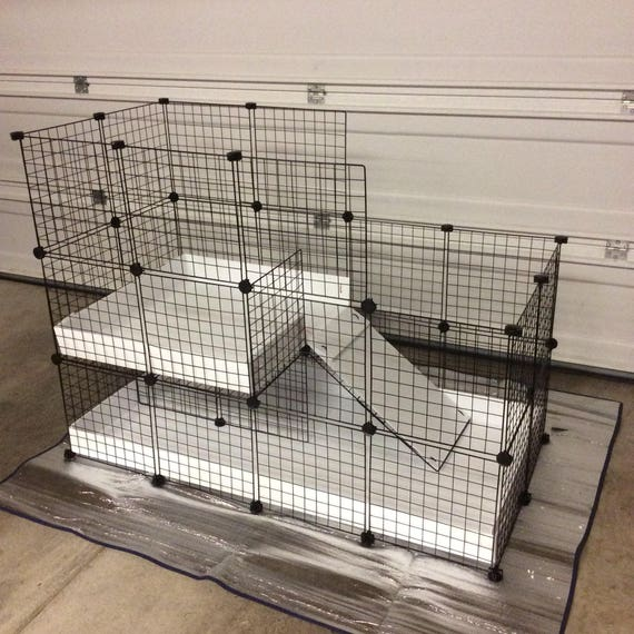 Large Indoor Rabbit Cage Hutch 2x4 2x2 Cc Extra Tall Walls