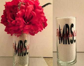 Personalized Cylinder Bouquet Vase