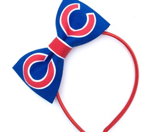 Chicago Cubs Fabric Hair Bow