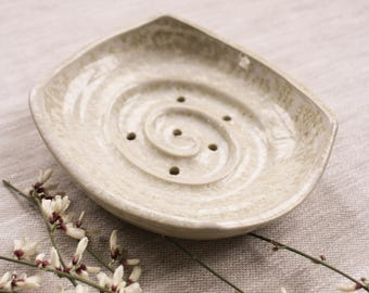 Crystal white ceramic soap dish, ceramic soap dish, bathroom accessory, white soap dish